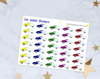 Car Wash Planner Stickers