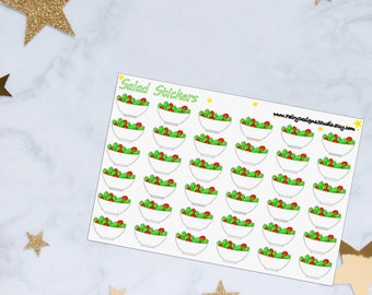 Salad Planner Stickers