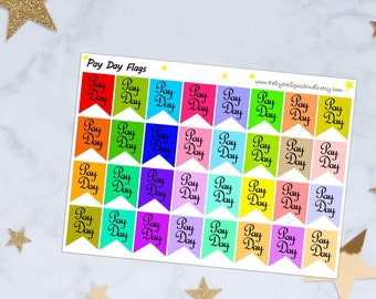 Pay Day Flags Planner Stickers