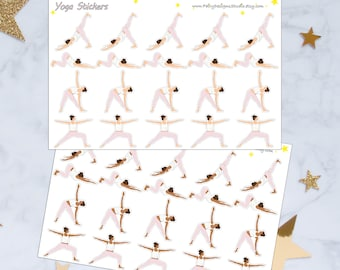 Yoga Planner Sticers