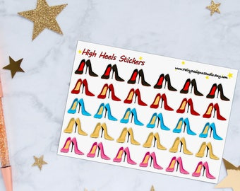 High Heel Planner Stickers