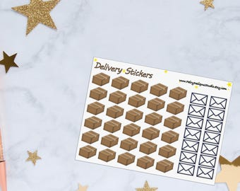 Delivery Mail Planner Stickers, Package Stickers, Delivery Box Stickers, Happy Mail Stickers, Vinyl Stickers