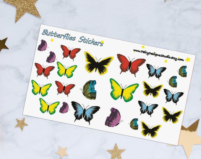 Butterfly Planner Stickers