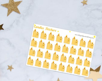 Candles Planner Stickers