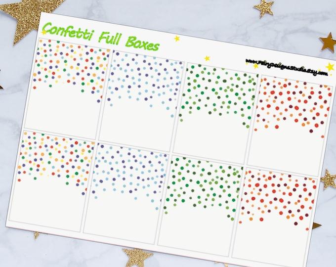 Confetti Full Box Planner Stickers