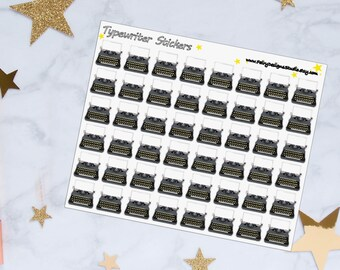 Typewriter Planner Stickers