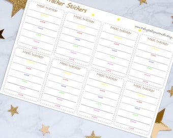 Meal Tracker Planner Stickers