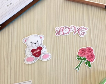 Love and Roses Vinyl Stickers