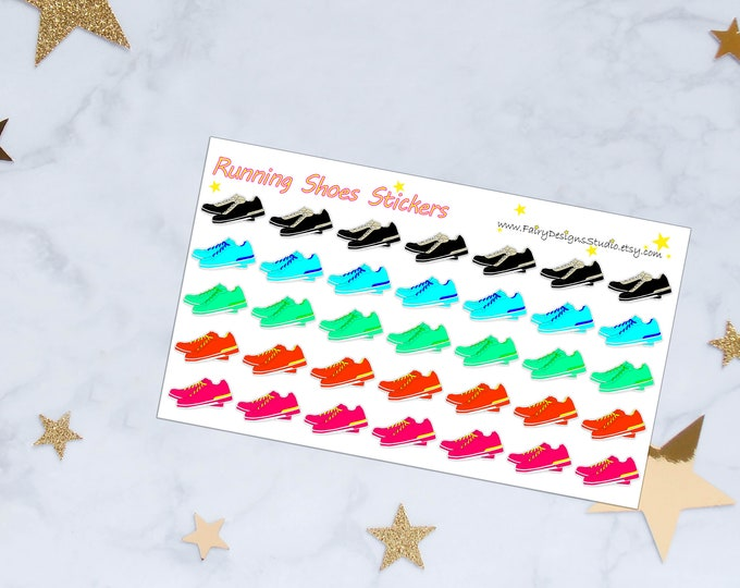 Running Shoes Planner Stickers