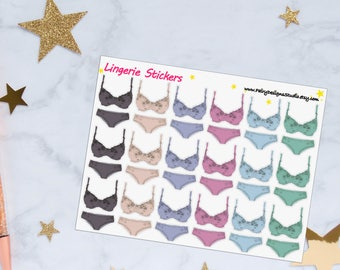 Lingerie Planner Stickers