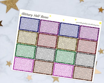 Glitter Half Box Planner Stickers
