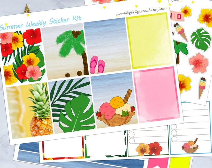 Summer Planner Sticker Kit
