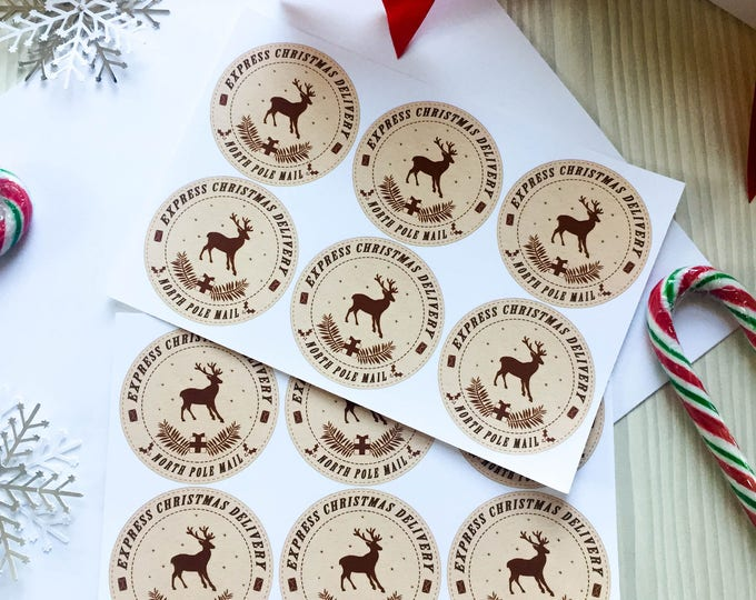 Christmas Delivery Gift Tag Vinyl Sticker