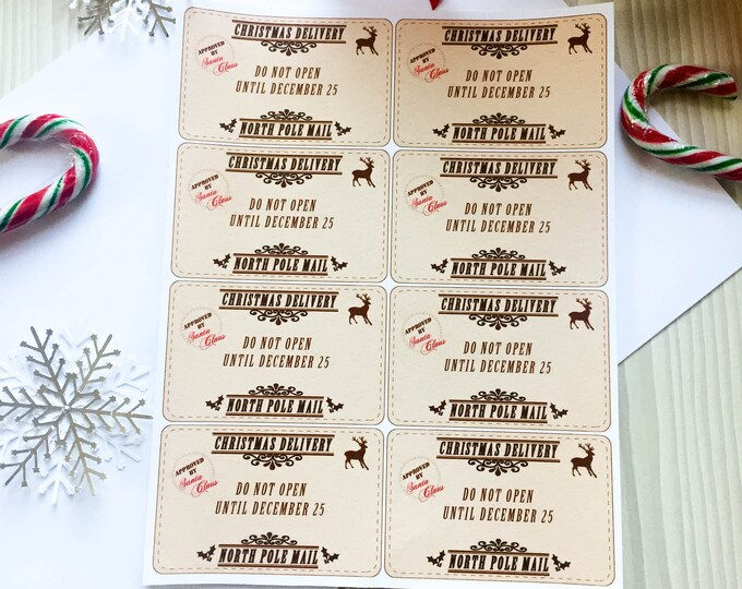 Christmas Gift Tag Vinyl Stickers