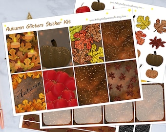 Fall Glitter Planner Stickers