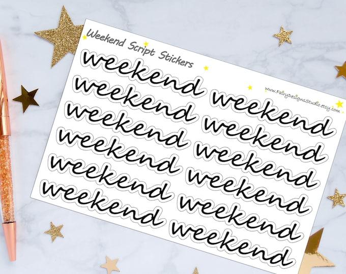 Weekend Script Planner Stickers