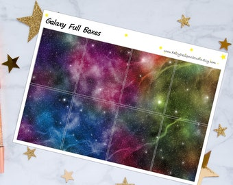 Galaxy Full Boxes Planner Stickers