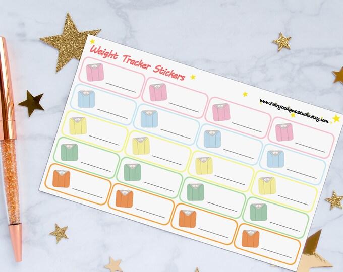 Weight Tracker Planner Stickers