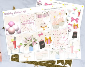 Birthday Planner Sticker Kit