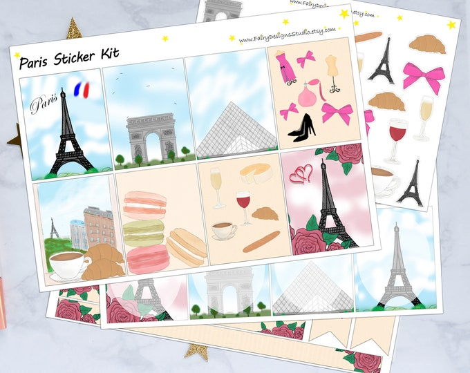 Paris Planner Stickers Kit