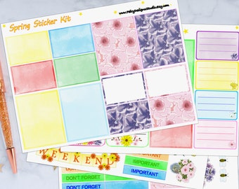 Spring Planner Sticker Kit