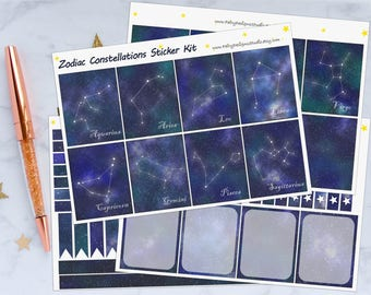 Zodiac Constellations Planner Sticker Kit
