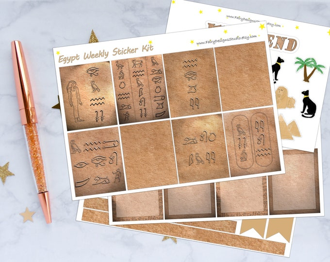 Egypt Weekly Planner Sticker Kit