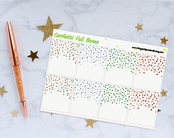 Confetti Full Box Planner Stickers