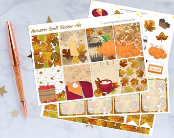 Fall Planner Stickers Kit - Autumn Spell