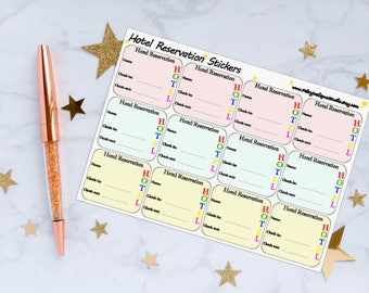 Hotel Reservation Planner Stickers