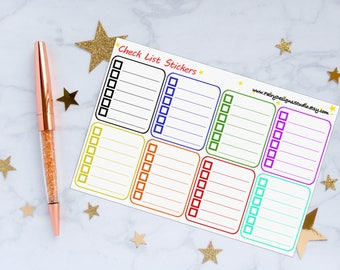 Checklist Planner Stickers