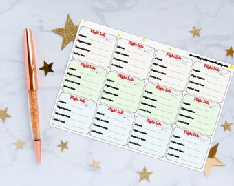 Flight Info Planner Stickers