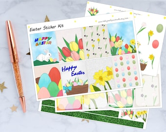 Easter Planner Stickers Weekly Kit