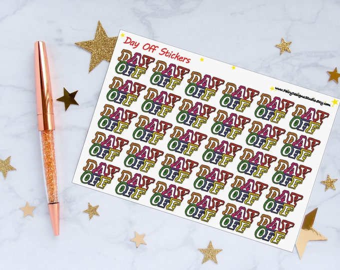 Day Off Planner Stickers