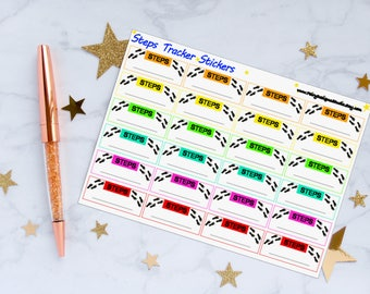 Steps Tracker Planner Stickers