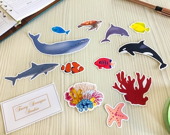 Ocean World Vinyl Stickers