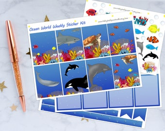 Ocean World Planner Sticker Kit