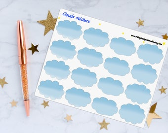 Clouds Planner Stickers