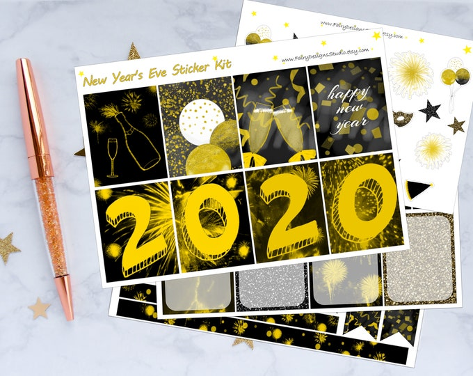 New Year Planner Sticker Kit