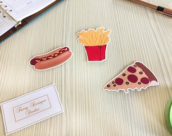 Fast Food Vinyl Stickers