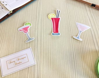 Drinks Vinyl Stickers