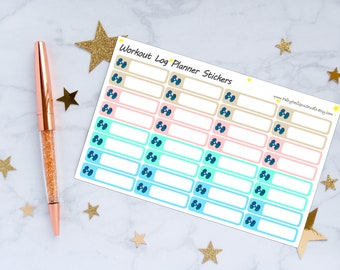 Workout Log Planner Stickers