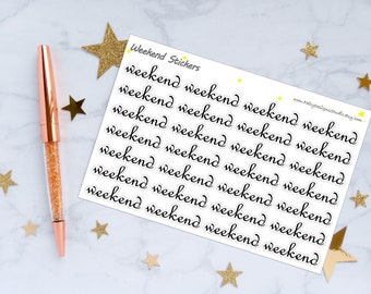 Weekend Script Planner Stickers - Small