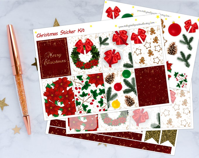 Christmas Planner Sticker Kit