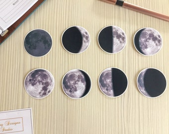 Moon Phases Vinyl Stickers