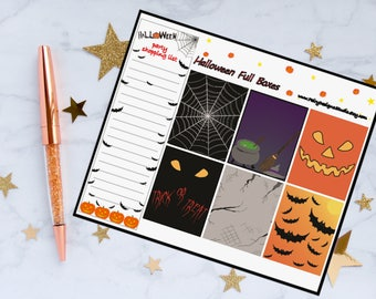 Halloween Full Box Planner Stickers
