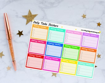Daily Tasks Planner Stickers