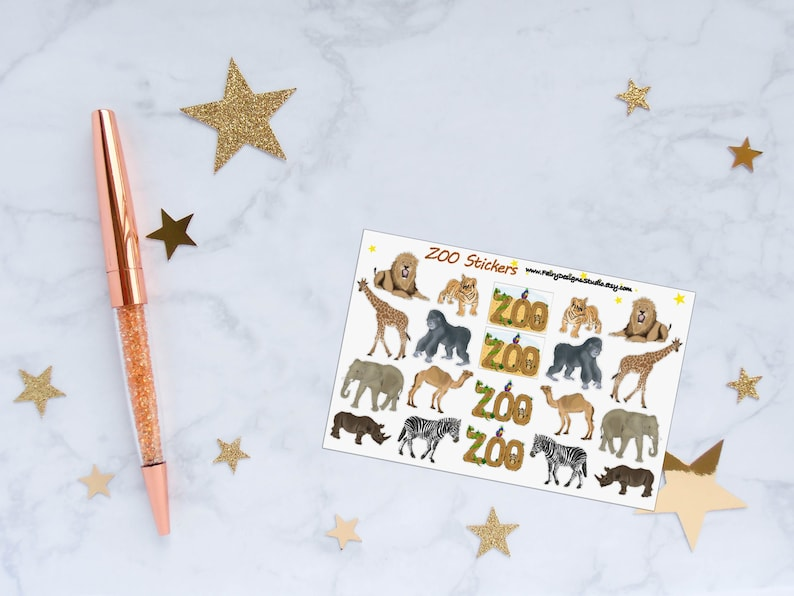 ZOO Animals Planner Stickers image 0