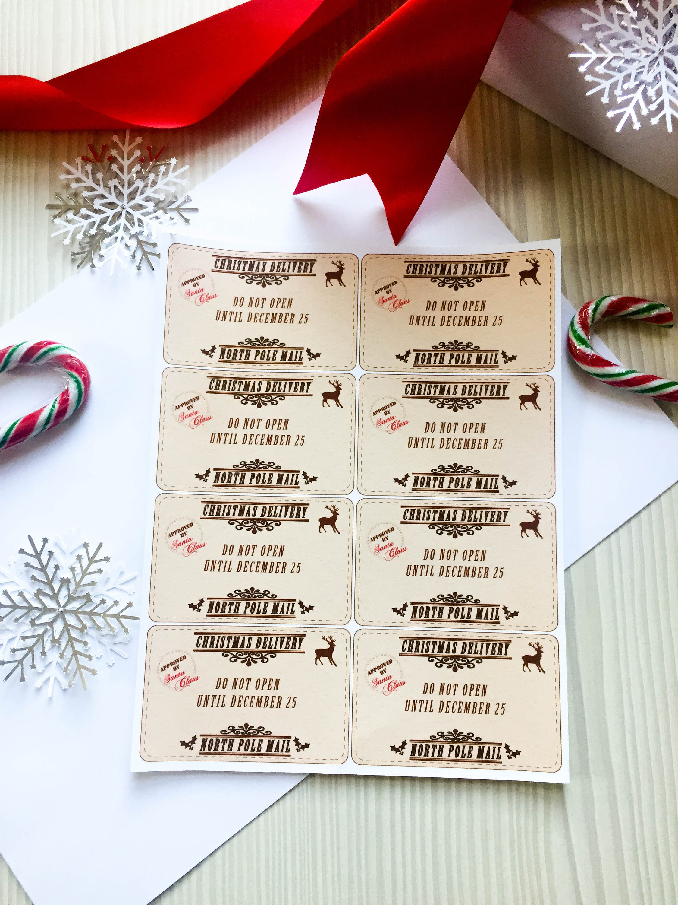 Christmas Delivery Gift Tag, Gift Tags Stickers, Holiday Gift Tags ...