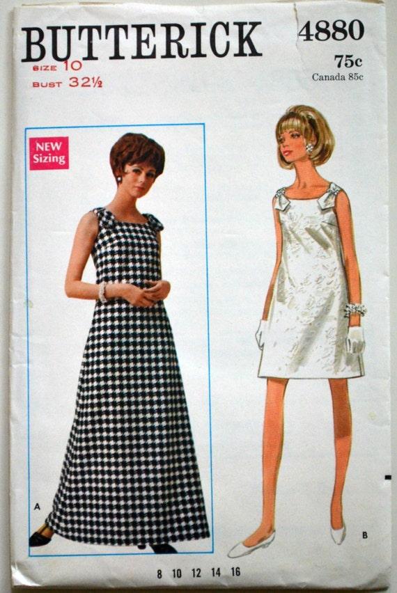 Uncut 1960s Butterick Vintage Sewing Pattern 4880 Size 10 | Etsy